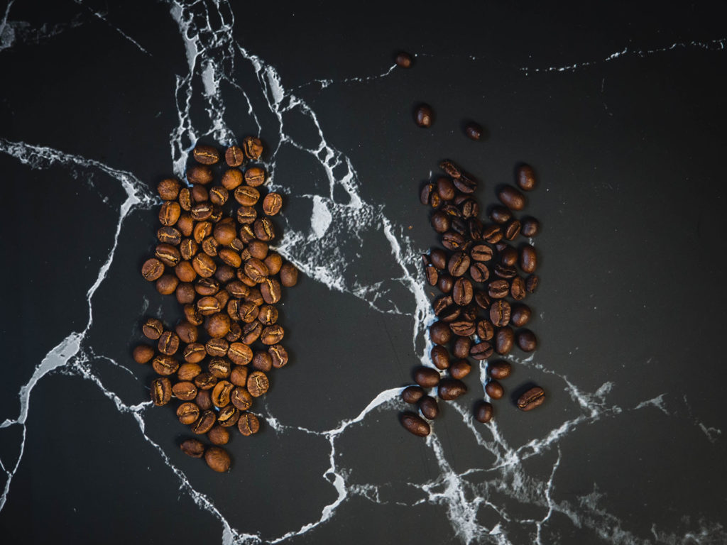 2 types of coffee beans
