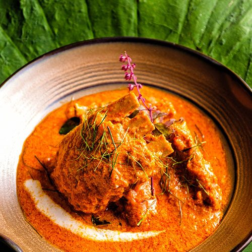 panang curry with spare ribs